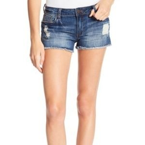 STS Blue Boyfriebd Side Slit Shorts S 27